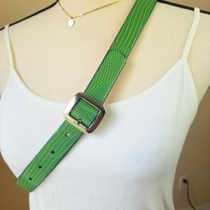 Women's NWOT Banana Republic green reptile belt M